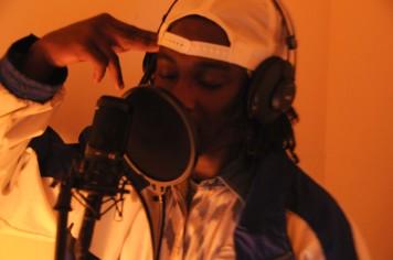 "Maleek ""Don Nova"" J Webster Simon expressing his emotions while singing his verses"